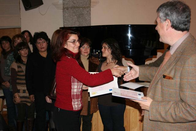 Acto de clausura en Béjar, Escuelas Taller Premysa