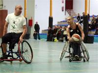 Exhobición partido baloncesto en silla de ruedas, Hervás