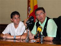 Cipriano González y Fernando Arroyo durante la presentación del programa de Fiestas de Béjar 2009