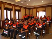 Miembros de Protección Civil  Béjar
