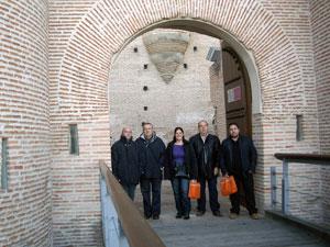 Miembros de Protección Civil Béjar en el Castillo de la Mota