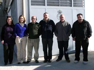 Miembros de Protección Civil Béjar junto a responsables municipales