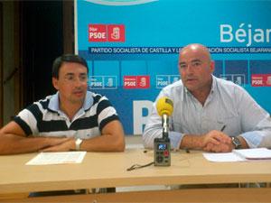 Fernando Pablos y Javier Garrido Novoa. Sede PSOE Béjar