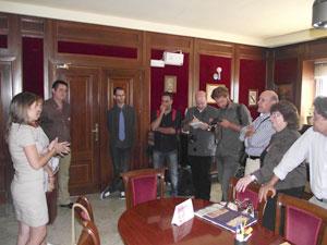 Periodistas Israelíes durante la recepción ofrecida en el ayuntamiento de Béjar