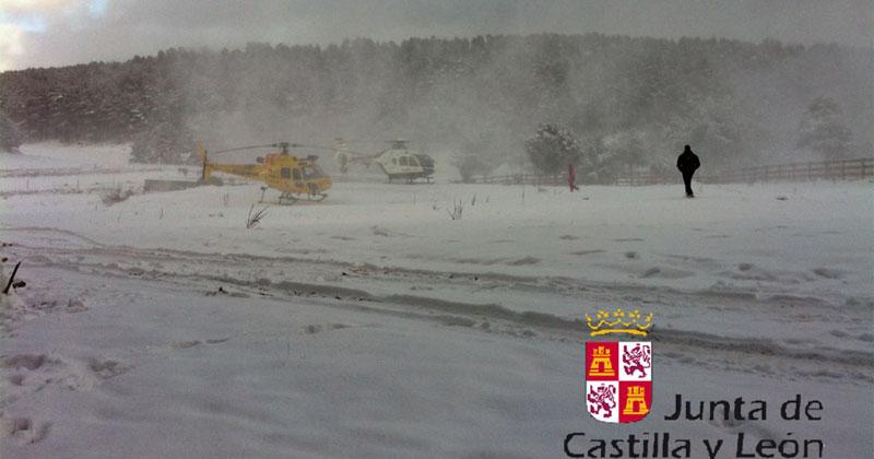 imagen helicopteros junta de Cy L foto Junta de Castilla y León