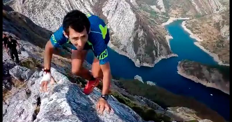 Roberto heras en una de las cumbres