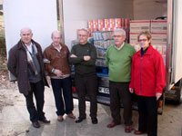 Rotary club de Béjar, entrega de alimentos
