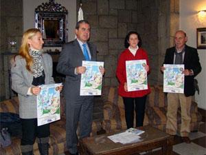 Mª Castañar Rodilla, Álvaro Muñoz, Magel Estebal y Antonio Aviles durante la presentación del festival benéfico de Béjar