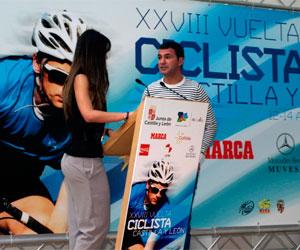 Santiago Blanco duante la presentaci´n de la XXVIII vuelta CYL