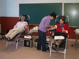 Donantes de sangre en Santibañez de Béjar