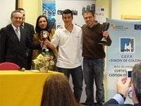 Daniel Hernandez recogiendo el premio CYLSkills (Archivo)