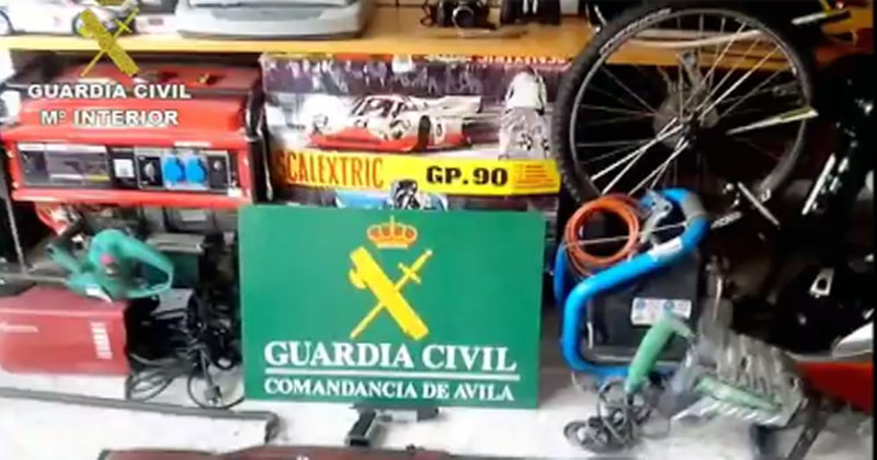 Alijo incautado por la guardia Civil