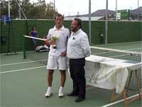 Cesar Izquierdo, vencedor Open de Tenis Virgen del Castañar