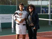 """Pablo Muñoz, ganador VI Open de Tenis """"Virgen del Castañar"""", Béjar"""