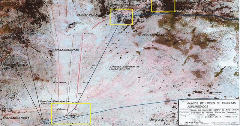 plano satelite de los terrenos en litigio