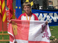 David de Paz durante el pasado Campeonato de España de Tiro Con Arco