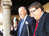 Vicente del Bosque junto al alcalde de Béjar