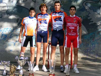 Podium de ganadores de la III Vuelta Ciclista a la Comarca de Béjar