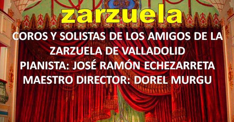 cartel anunciador de la actividad de zarzuela del rotary club de bejar