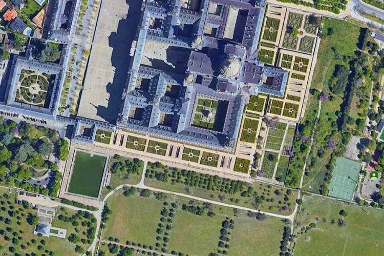 El Escorial en imagen de satélite