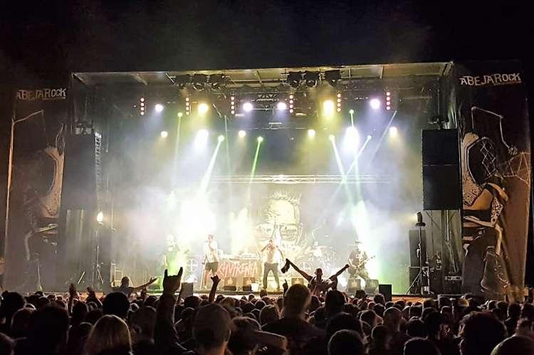 Una imagen de archivo del festival de rock
