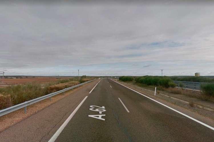 Tramo de la A62 en el que se ha producido el accidente