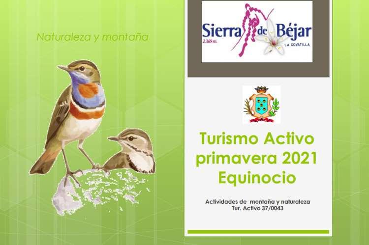 Portada del programa de actividades de primavera 2021 Equinocio