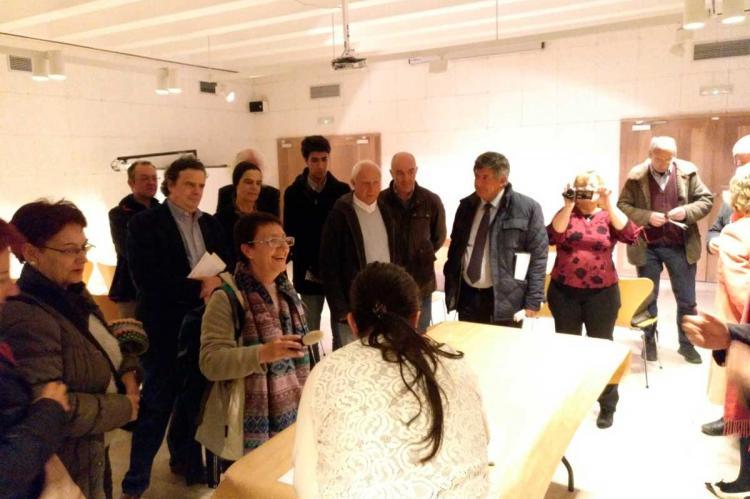 Inauguración de la muestra Jardines Suspendidos en la Casas de las Conchas, Salamanca