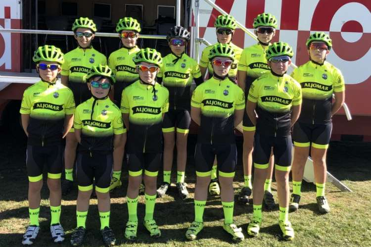 Equipo Aljomar Moises dueñas de ciclismo
