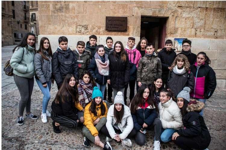 Alumnos del colegio María Auxiliadora de Béjar