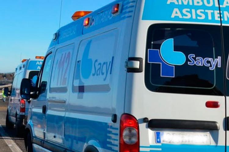 Ambulancias en accidente A-66