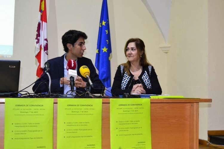 Ángel Orgaz y Purificación Pozo durante la rueda de prensa de la actividad