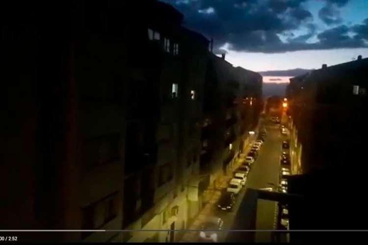 Frame de video de los aplausos en Béjar