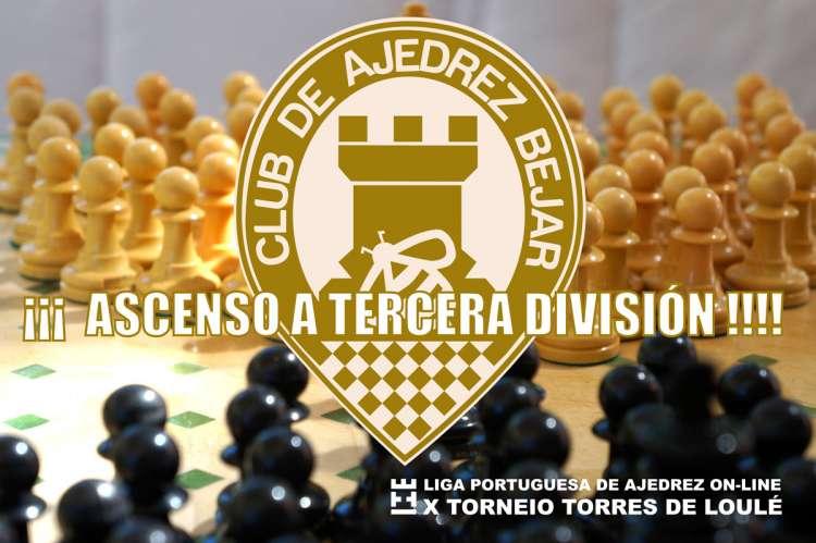 Cartel ascenso a tercera del Club de Ajedrez Béjar