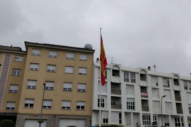Bandera en La Plaza de España de Béjar