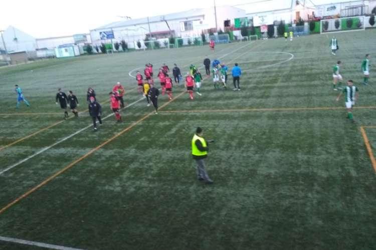 Un momento del encuentro entre el Betis CF y el Béjar Industrial. Imagen del TW del club