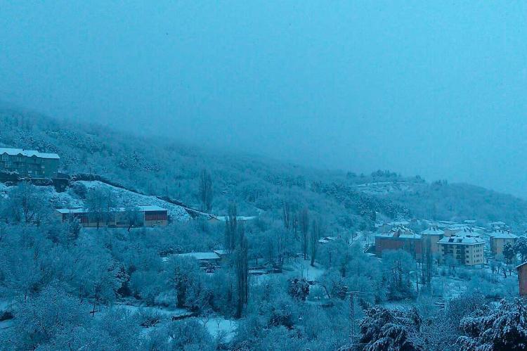 Béjar nevada en la mañana del sábado