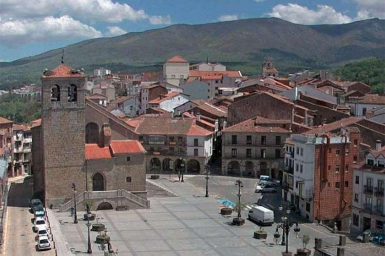 Vista de la Plaza Mayor de Béjar sin terrazas