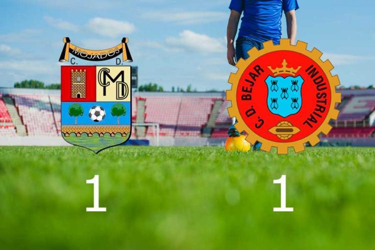 Marcador del partido entre el CD Mojados y CD Béjar Industrial (1-1)