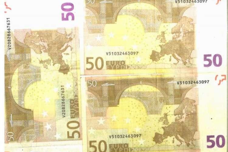 imagen de los billetes facilitada por la Policía Nacional