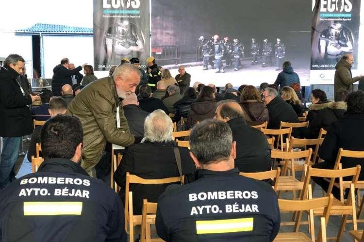 Bomberos de Béjar en el Simulacro Pozo Santiago (Mieres)