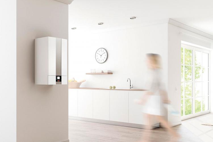 Caldera instalada en cocina