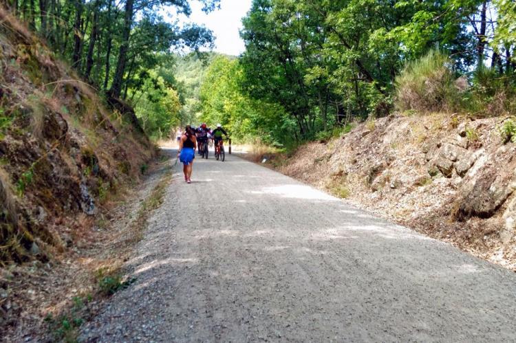 Camino Natural en su recorrido entre Béjar y Baños de Montemayor