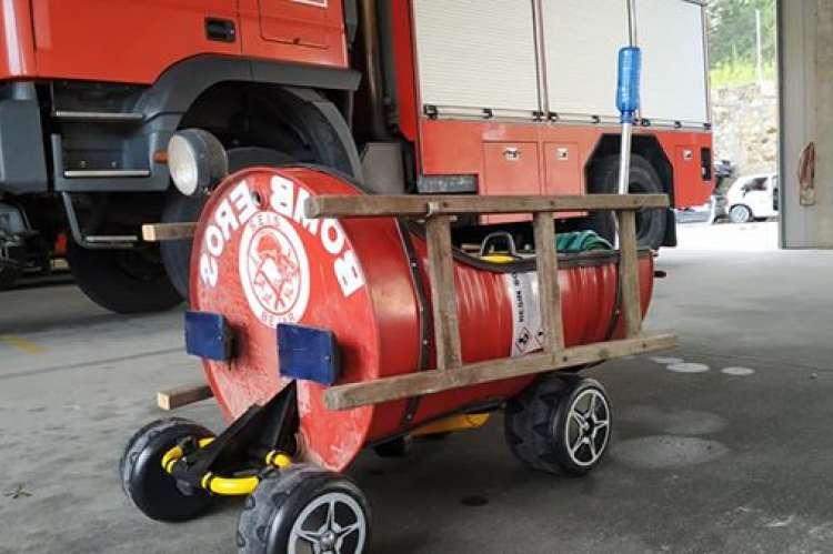 Camión fabricado por el Parque de Bomberos de Béjar
