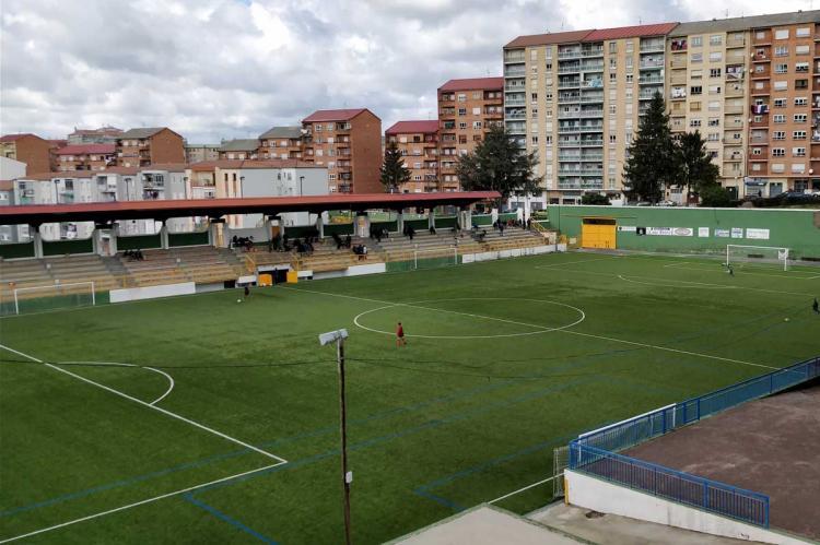 Vista del campo de fútbol Mario Emilio, Béjar