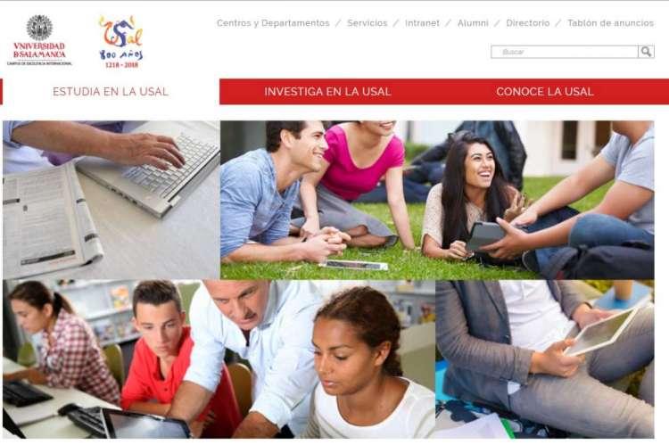 Captura Campus virtual de la USAL