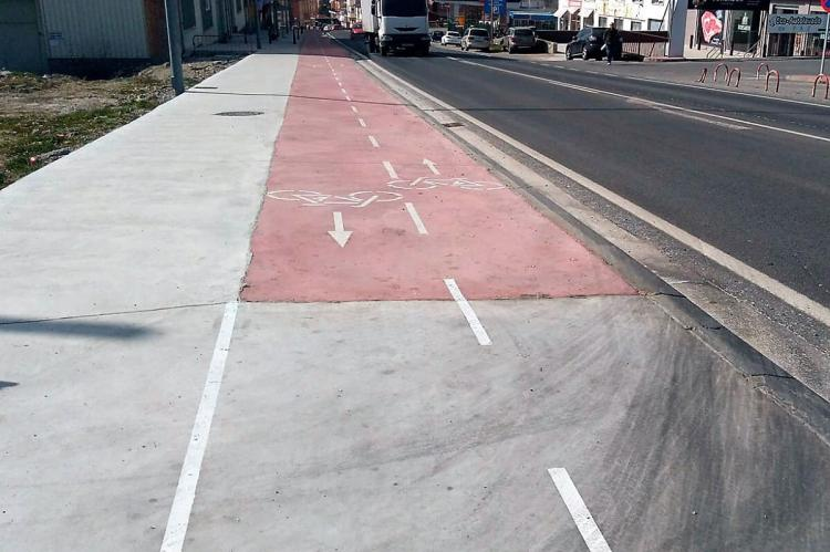 Tramo del carril bici entre Béjar y Palomares de Béjar