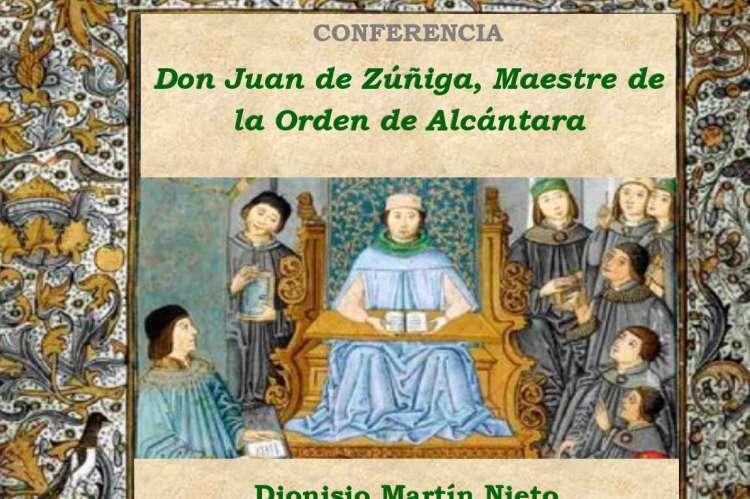 Vista parcial del cartel anunciador de la conferencia sobre Juan de Zúñiga