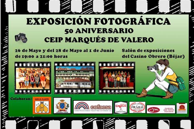 Cartel anunciador de la exposición de fotografías del Marqués de Valero