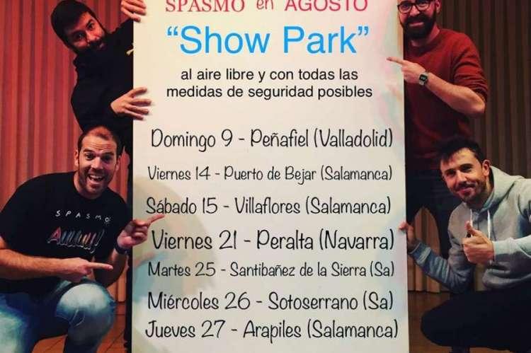 Cartel  de la gira de Spasmo Teatro